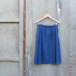 1970s Denim Wrap Skirt