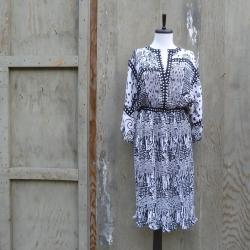 1980s Batwing Boho Midi Dress